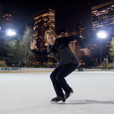 Norbert Schramm skating in New York