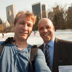 Norbert Schramm und Scott Hamilton in New York